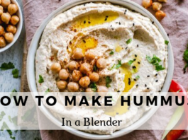 How to make hummus in a blender